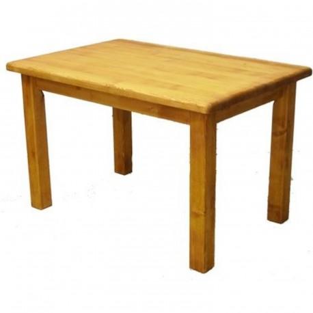 table rectangulaire pieds droit plateau de 4 cm. Black Bedroom Furniture Sets. Home Design Ideas