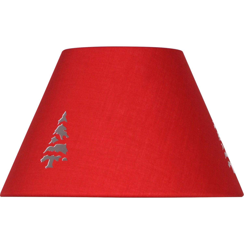 abat jour conique a poser rouge. Black Bedroom Furniture Sets. Home Design Ideas