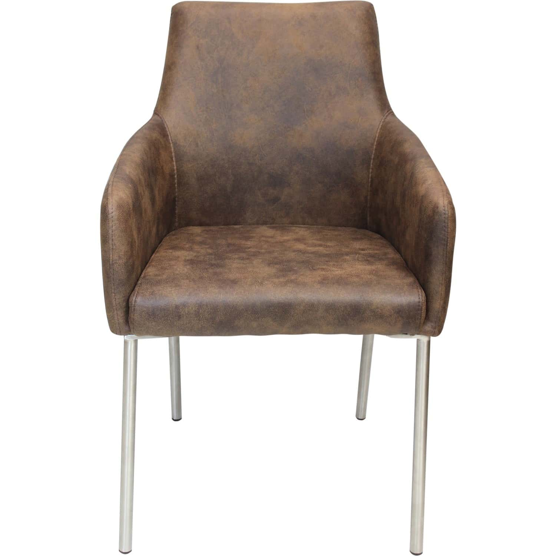 Chaise avec accoudoirs pieds acier for Chaise un pied