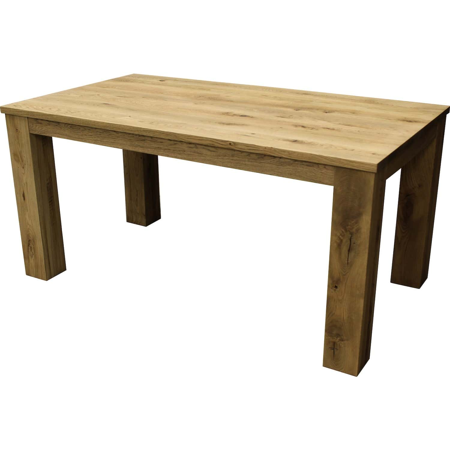 Table rectangulaire en ch ne massif avec allonge int gr e jbf - Table avec rallonge integree ...
