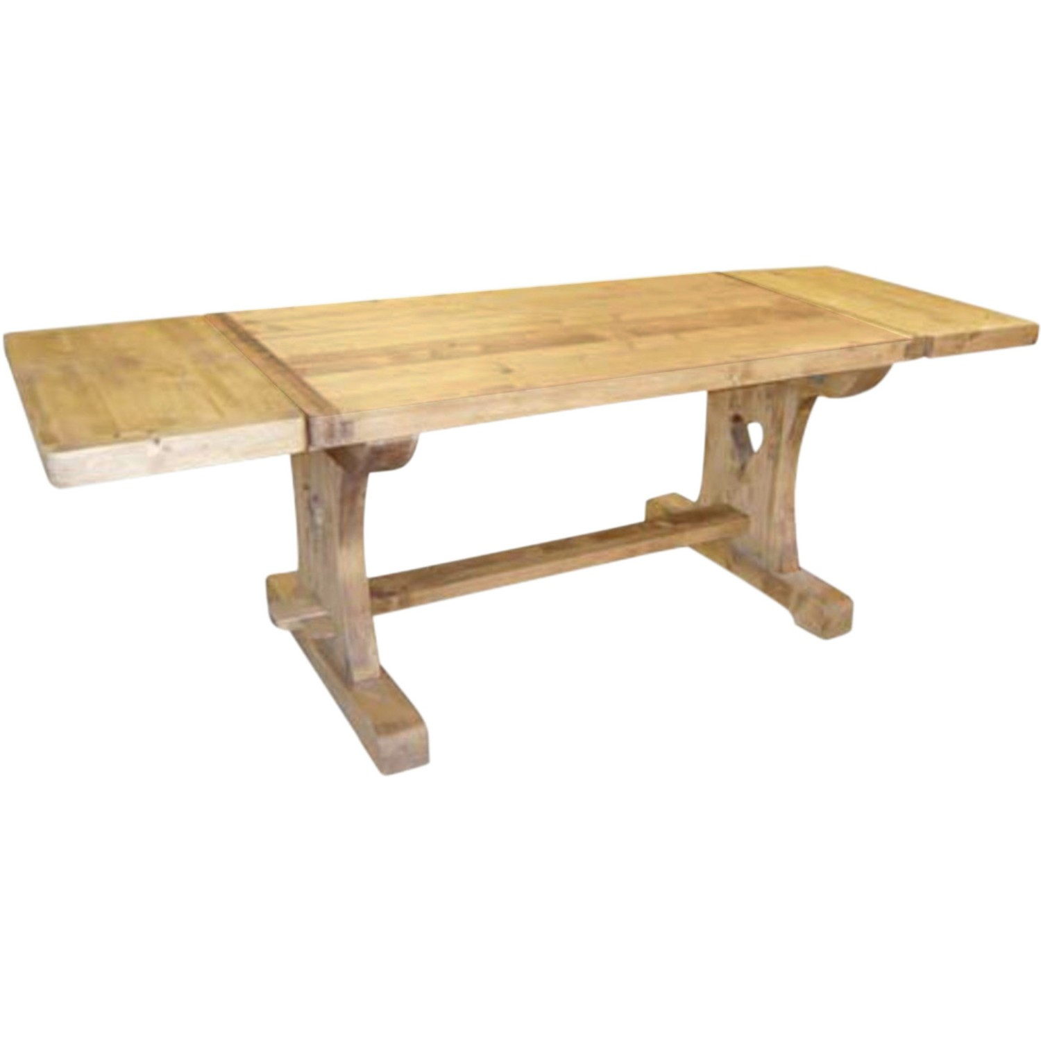 Table monast re coeur avec 2 allonges 40 cm for Petite table avec rallonge