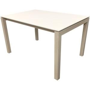 Table étoile plateau fenix et pieds chêne avec allonge intégrée