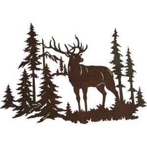 Déco murale cerf forêt