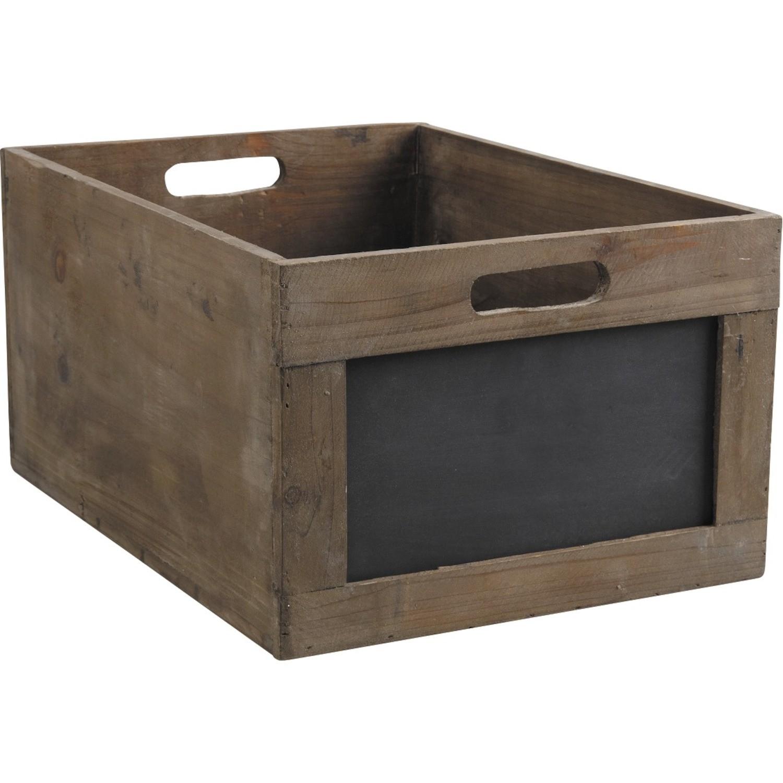 caisse bois ardoise. Black Bedroom Furniture Sets. Home Design Ideas