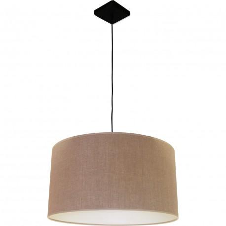 Suspension 1 lampe abat jour tissu