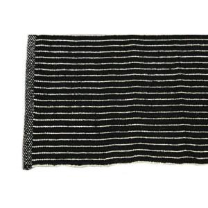Tapis noir jute et coton