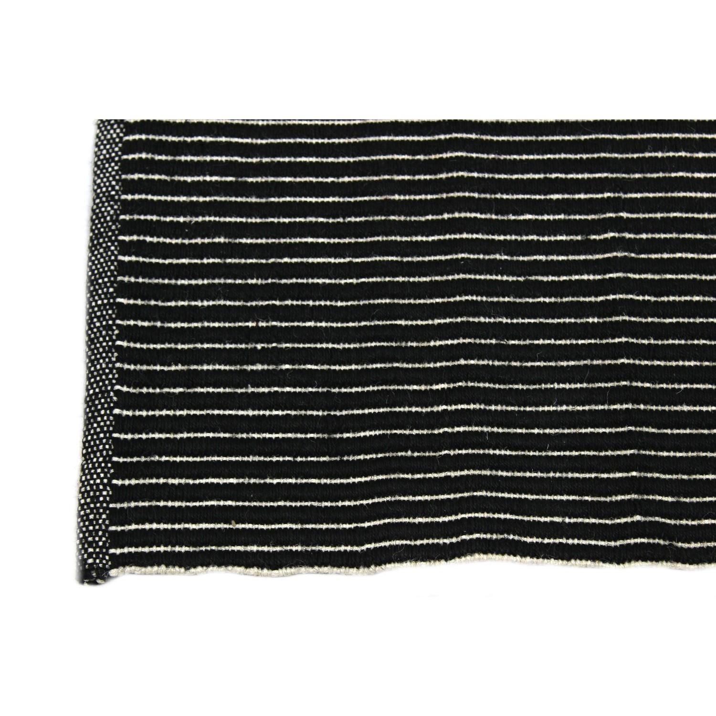 tapis noir jute et coton - Tapis En Jute