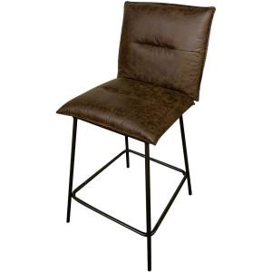 Chaise pieds metal hauteur comptoir