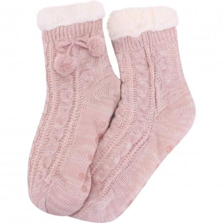 Chaussettes chaudes rose