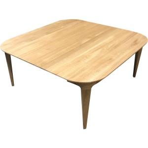 Table basse chêne massif avec rangement