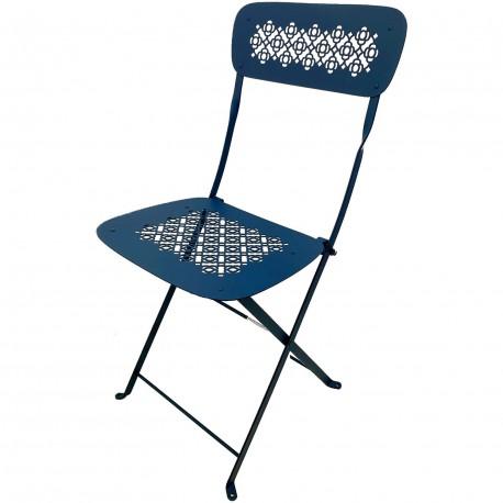Chaise pliante metal lorette