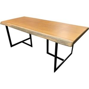 Table switch pieds acier et plateau bois massif