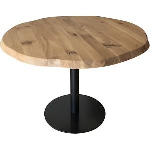 Table ronde en chêne massif avec pied central