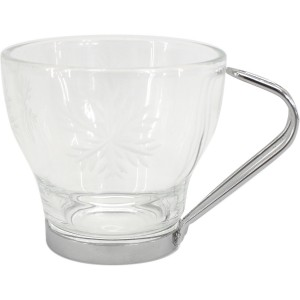 3 tasses expresso gravé flocon
