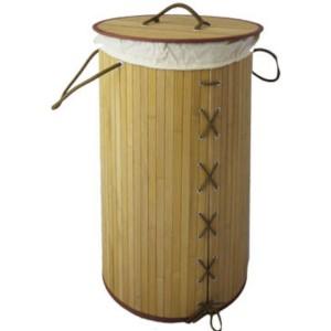 Panier à linge bamboo pliant