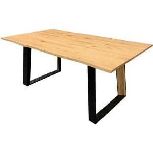 Table goa chêne massif avec allonge intégrée