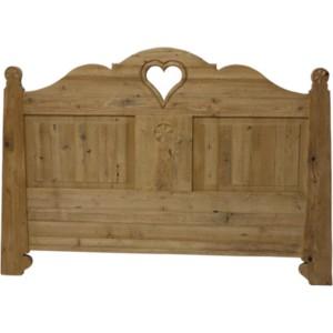 Vente de lits ambiance chalet et d co de montagne - Tete de lit en forme de coeur ...