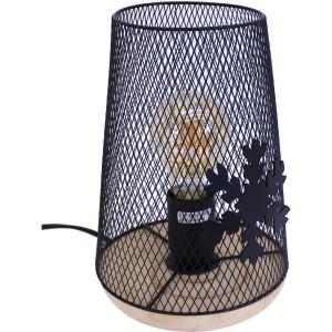 Lampe grillage flocon