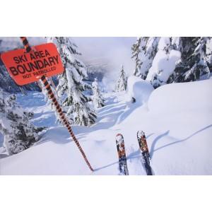 Impression sur dibond limite domaine skiable