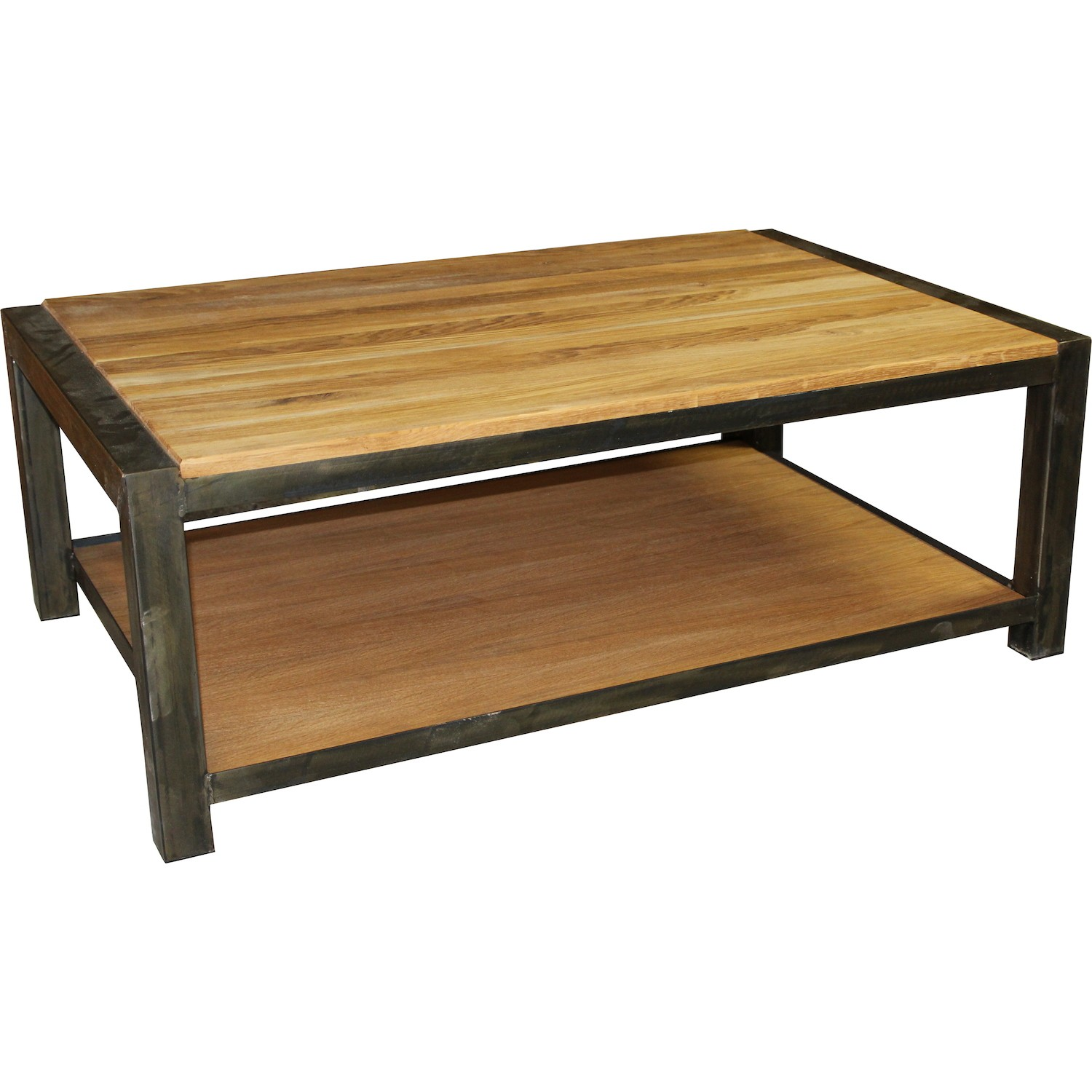 Table basse double plateau spirit for Table basse double plateau