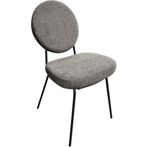 Chaise medaillon pieds métal louise