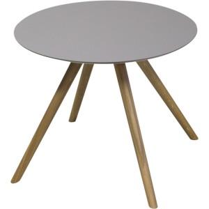 Table basse pieds chêne et plateau fenix