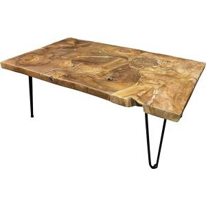 Table basse en teck puzzle