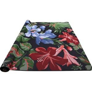 Tapis black hibiscus