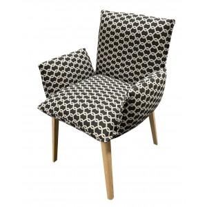 Chaise soft confort avec accoudoirs