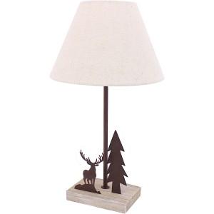 Lampe cerf 1 sapin
