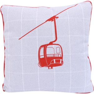 Coussin les contamines rouge