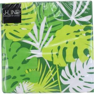 Paquet de 20 serviettes tropical