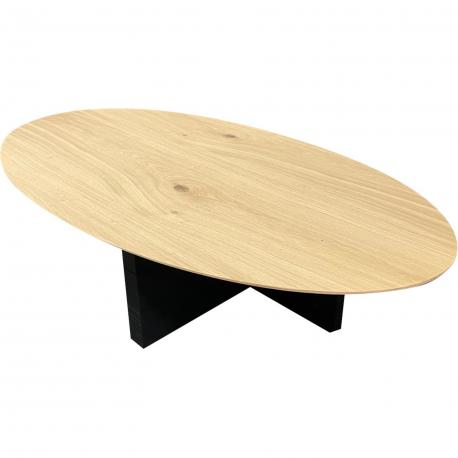 Table basse plateau ellipse megan