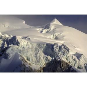 Glacier ensoleillé en photo sur dibond