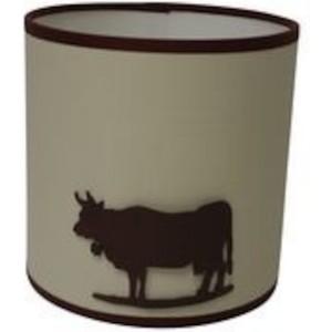 Abat jour a poser Vache