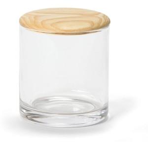 Pot en verre et bois