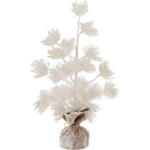 Arbre fleurs enneigé