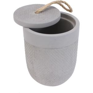 Pot avec couvercle ciment