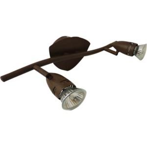 Spot 2 lampes rouille
