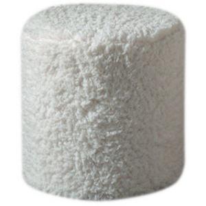 Pouf snow blanc