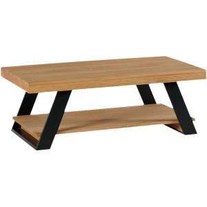 Table basse double plateaux