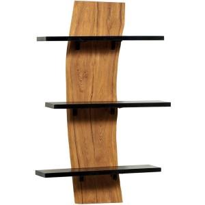 Étagère verticale teck 3 rayons