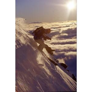 Ski extrème effet vintage en photo plexiglass
