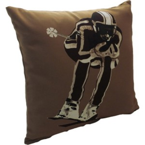 Coussin skieurs vintage