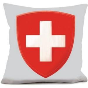 Coussin croix suisse
