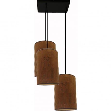 Suspension 3 lampes abat jour tissu