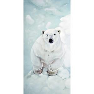 Toile sur chassis ours blanc vu de haut