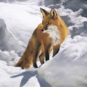 Tableau le renard et le vent