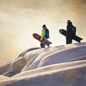 Tableau freerideurs en snow