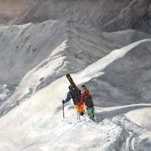 Tableau ski de rando sur la crête